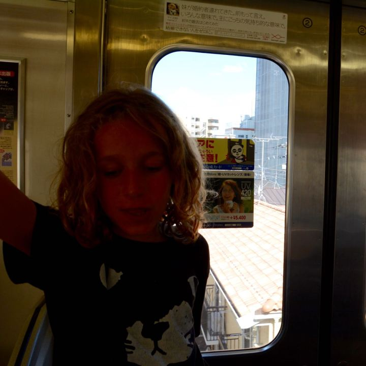 riding train to Shinagawa station Tokyo Kaikyo line