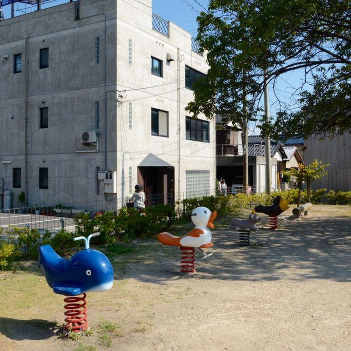 naoshima japan miyanoura playground rides