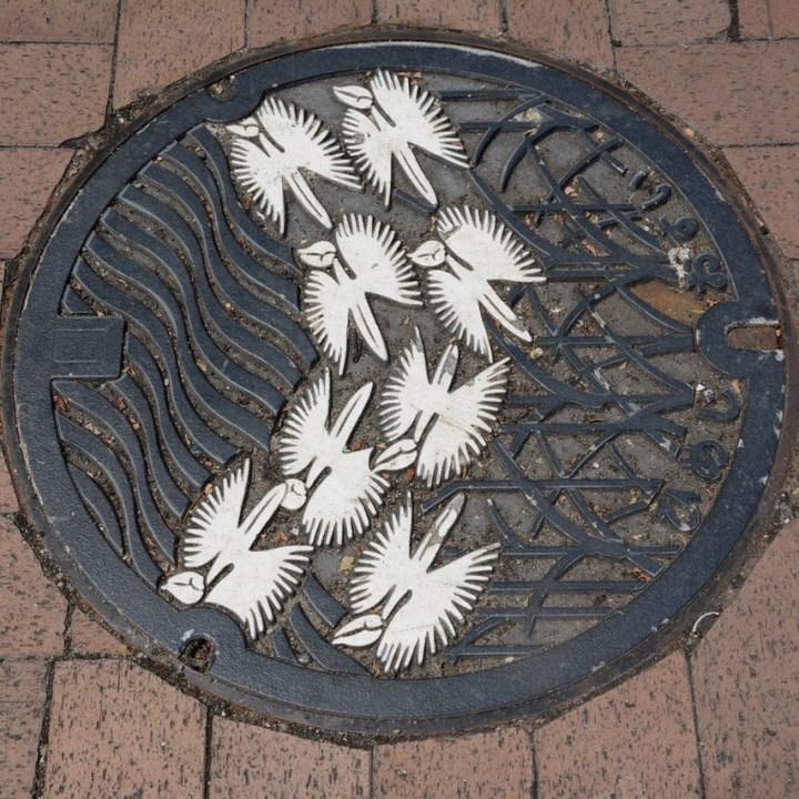 himeji castle tonw pothole cover