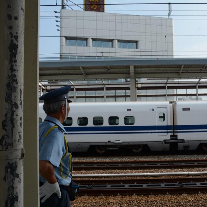 himeji station train guard shinkansen