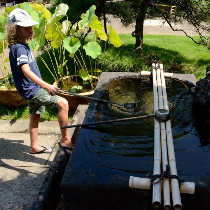 yanaka tennoji temple water well
