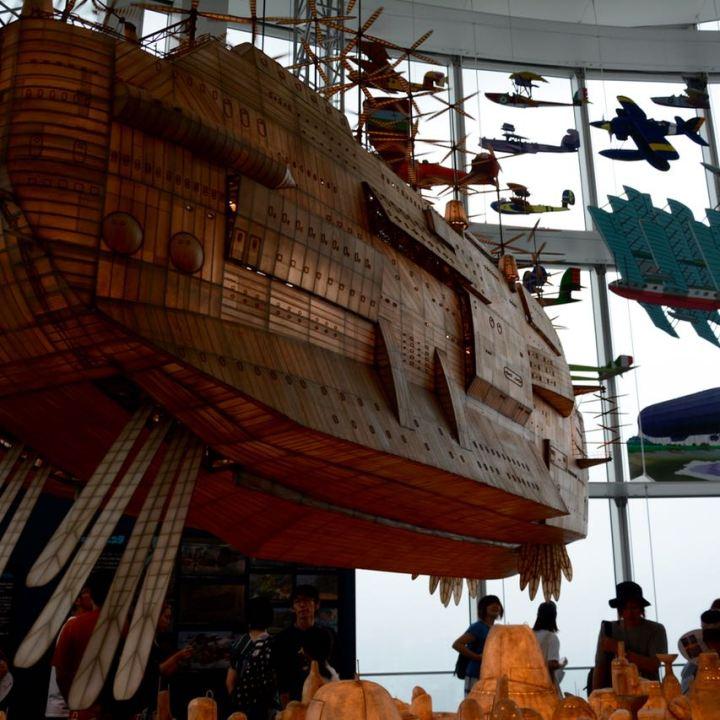 roppongi tokyo mori art museum ghibli exhibition air ship