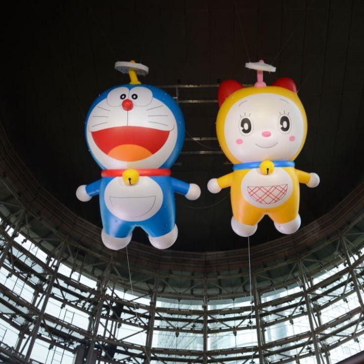 roppongi tokyo mori art museum giant doraemon