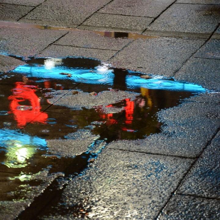 Shinjuku tokyo kabukicho puddle