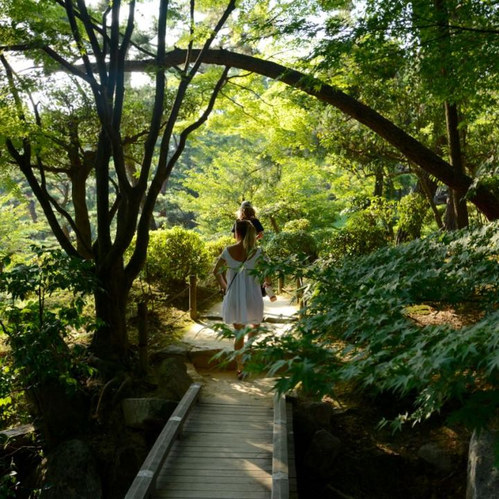 Hiroshima Shukkeien japanese garden lake path