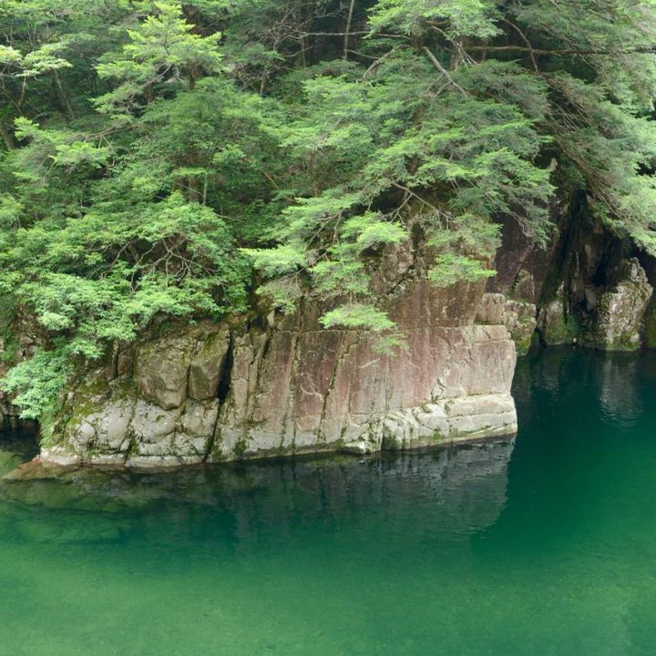 Sandankyo gorge Hiroshima Japan emerald green water