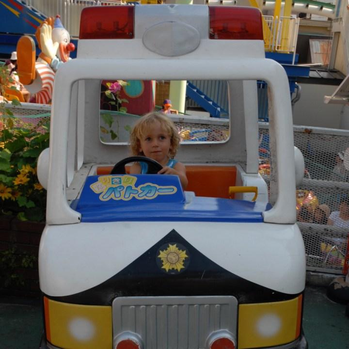 travel with children kids japan tokyo Hanayashiki Amusement Park