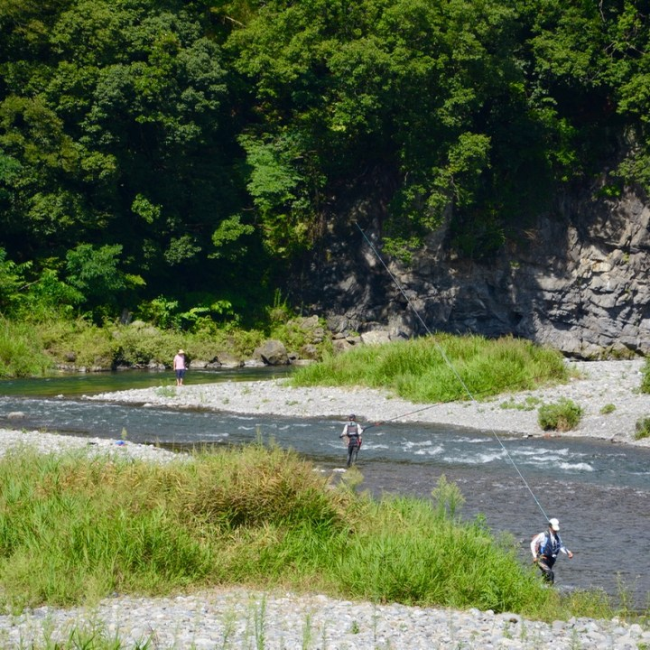 tama river cycling fisher men