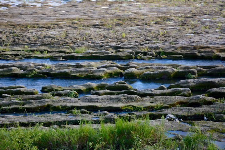 tama river cycling rocks