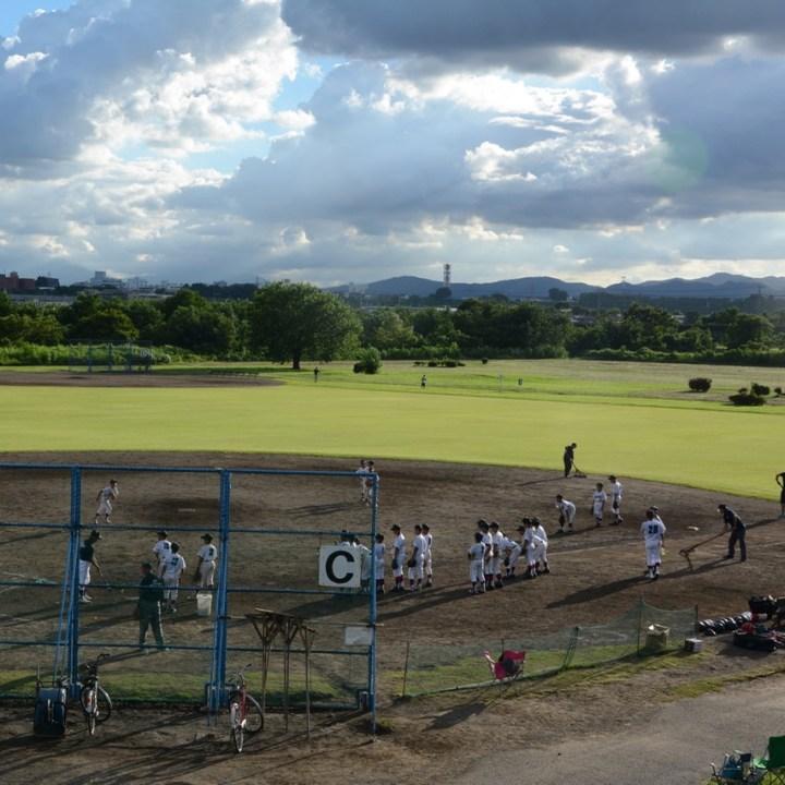 tama river cycling baseball court