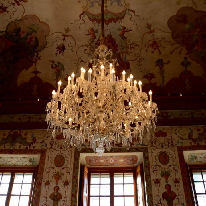 Vienna Wien Austria with children kids lower belvedere chandelier