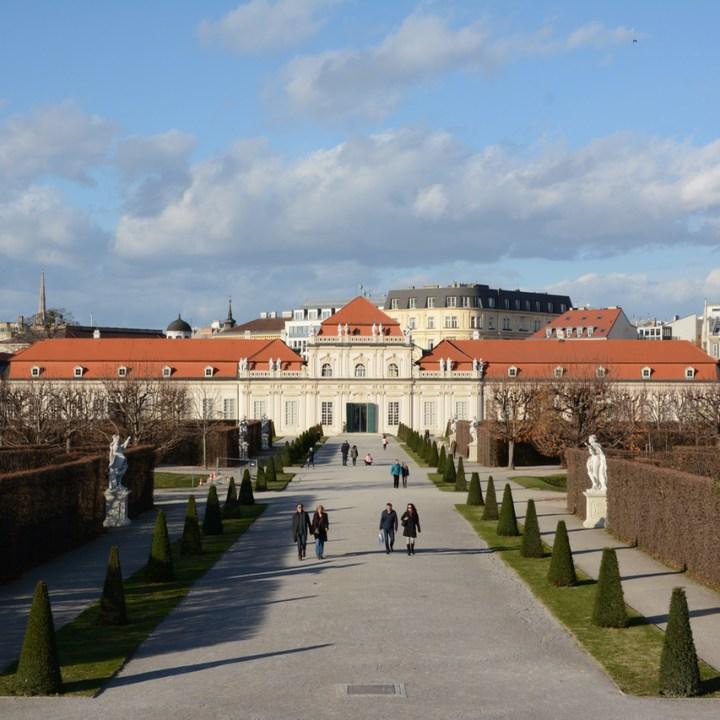 Vienna Wien Austria with children kids palace garden belvedere