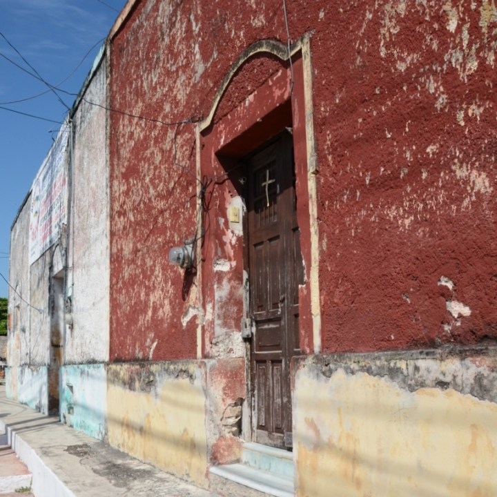 Cancun Mexico valladolid yucatan peeling paint