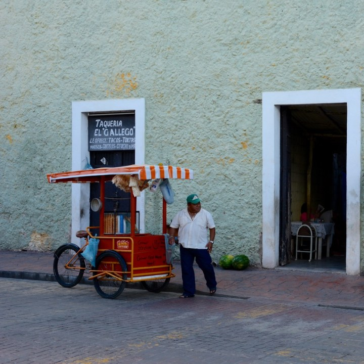 valladolid mexico with children taco stand