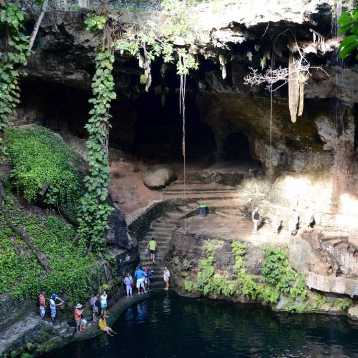 Valladolid mexico with children kids cenote zaki cave
