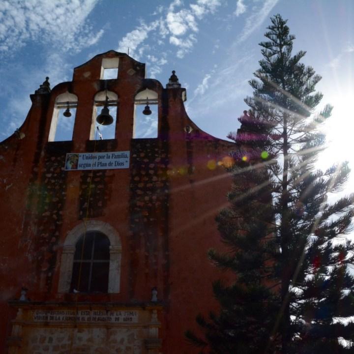 Valladolid with kids children village church