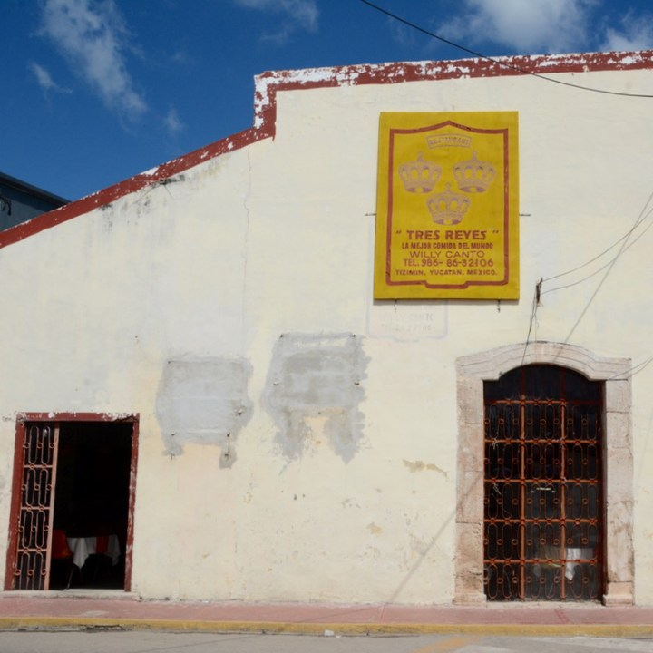 Travel with children kids mexico tizimin restaurant tres reyes
