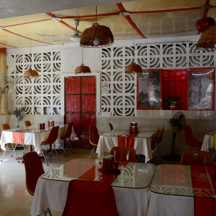 Travel with children kids mexico tizimin restaurant deco