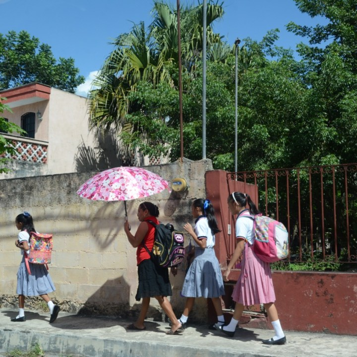 Travel with children kids mexico tizimin school