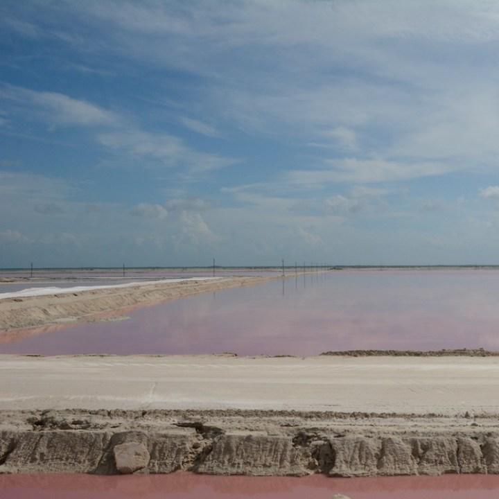 Travel with children kids mexico las coloradas salt lakes