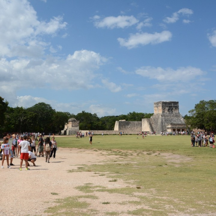 travel with children kids mexico chichen itza ball court