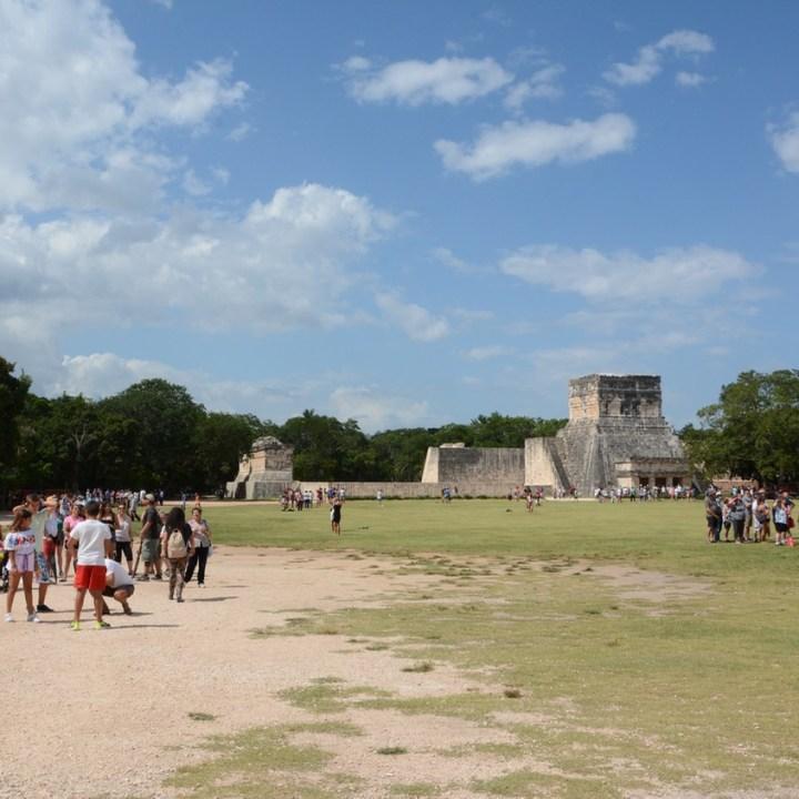 travel with children kids mexico chichen itza ball court