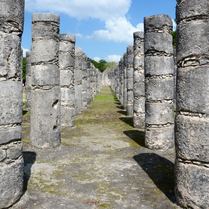 travel with children kids mexico chichen itza thousand columns