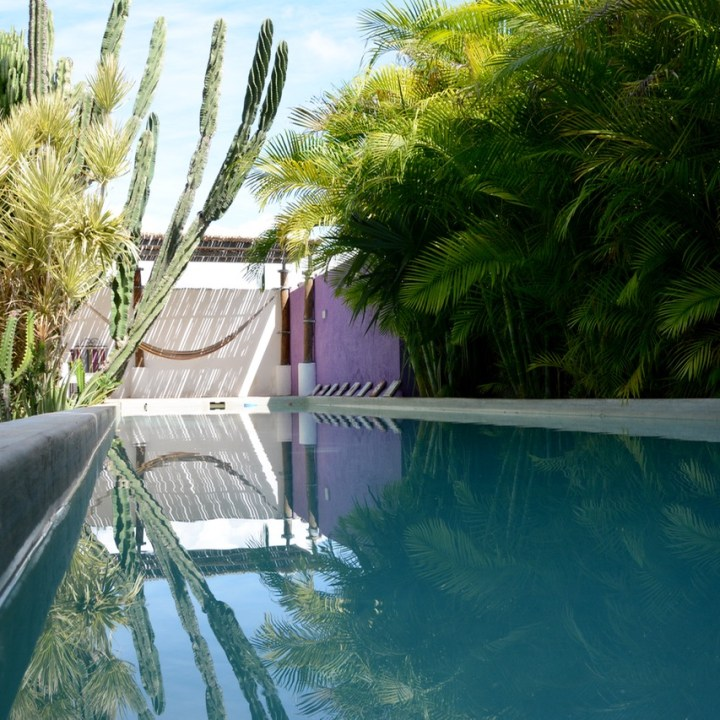 Travel with children kids mexico merida airbnb pool