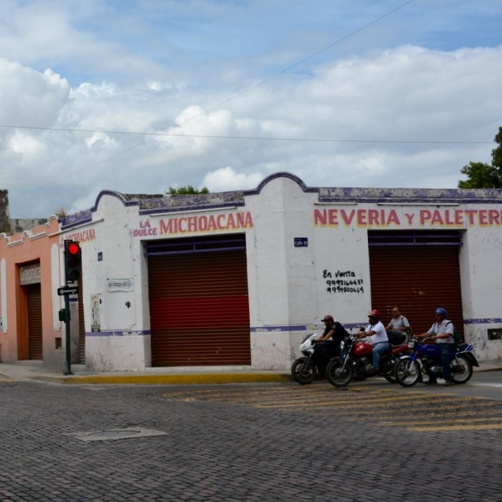 Mexico Merida travel with children kids motorbikes