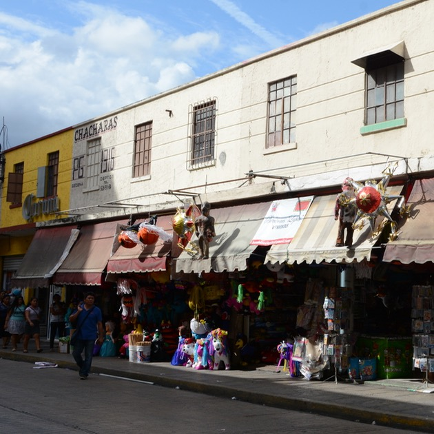 Travel with children kids mexico merida shops