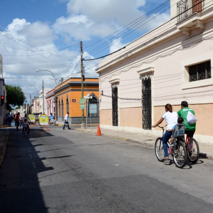 Travel with children kids mexico merida sunday cycle