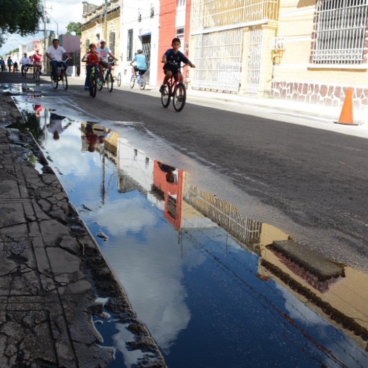 Travel with children kids mexico merida cycle day