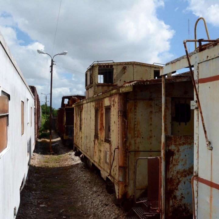 Travel with children kids mexico merida train museum rust