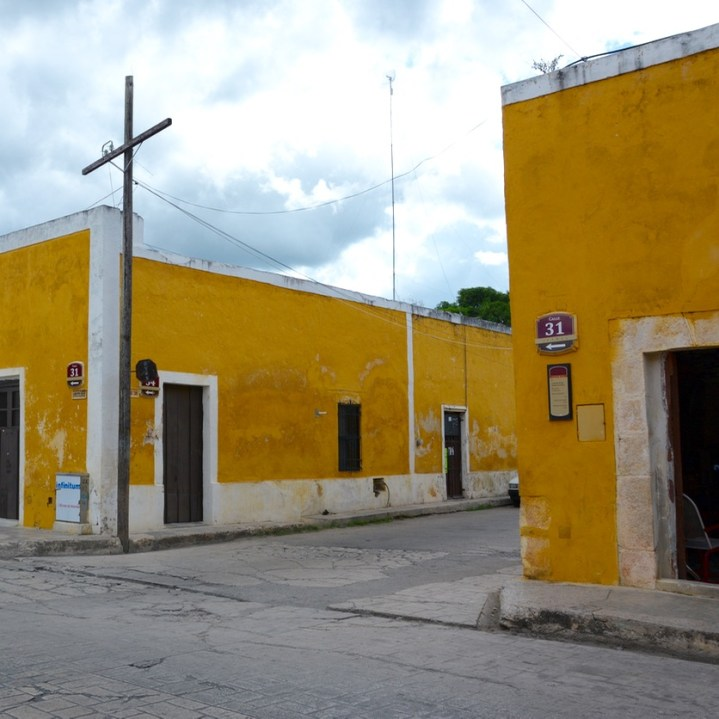 Travel with children kids mexico merida izamal streets