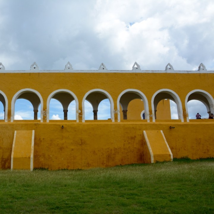 Travel with children kids mexico merida izamal convento de san antonio de padua