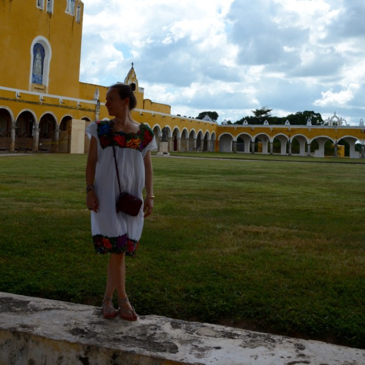 Travel with children kids mexico merida izamal convento de san antonio de padua huipil
