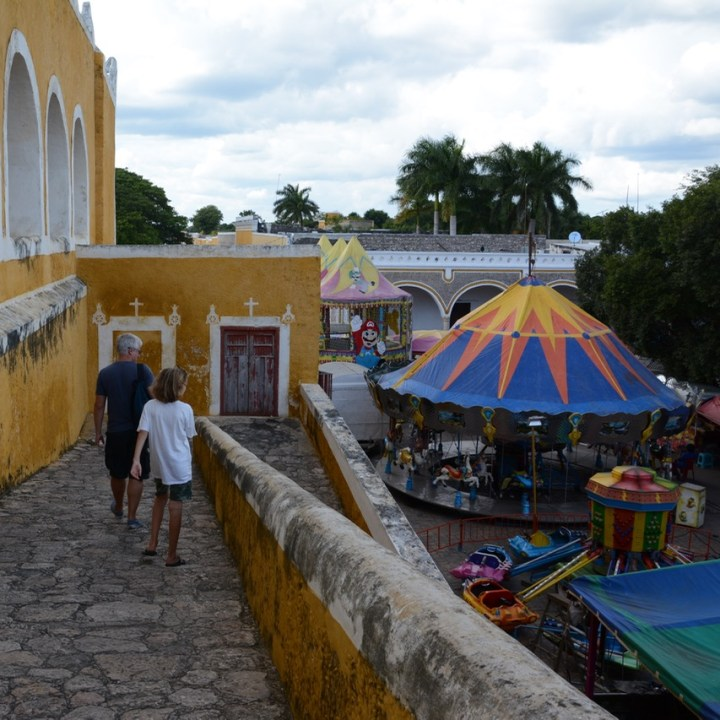 Travel with children kids mexico merida izamal convento de san antonio de padua festival