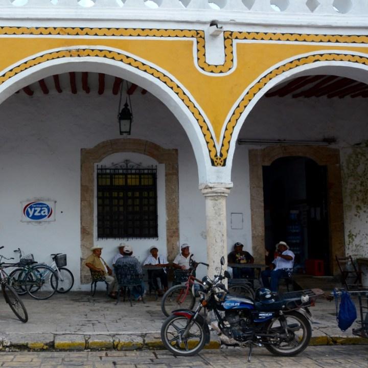 Travel with children kids mexico merida izamal local bar