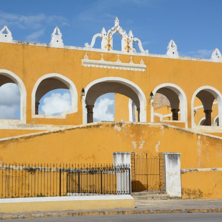 Travel with children kids mexico merida izamal convent