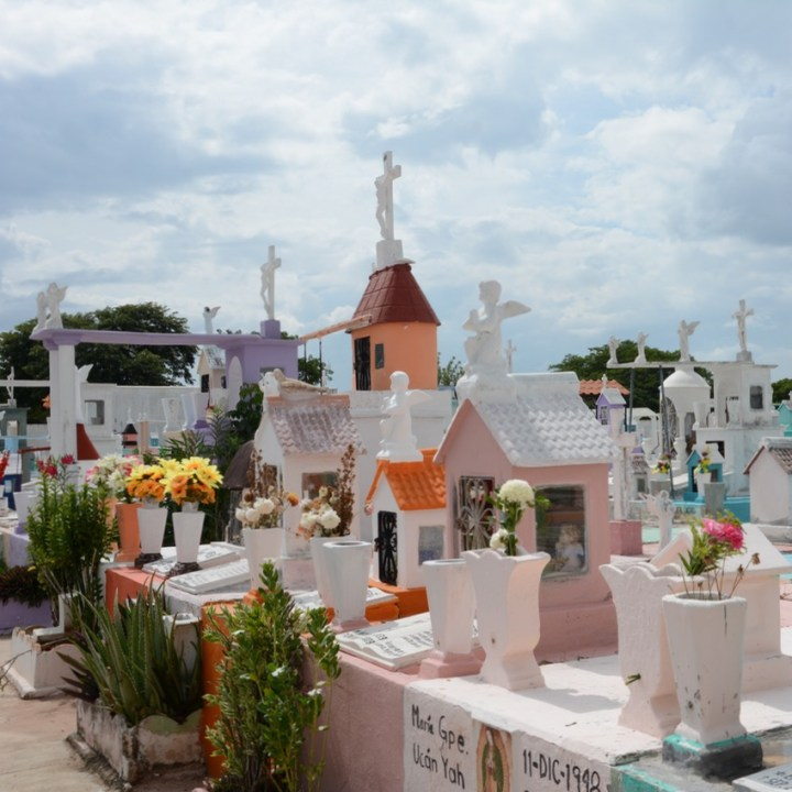 Travel with children kids mexico merida cemetery dia de los muertos