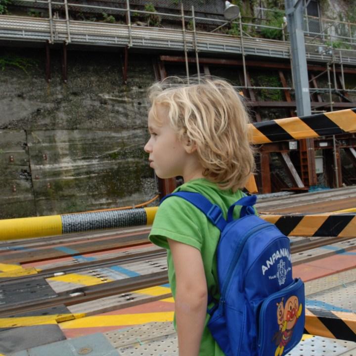 travel with children kids japan tokyo train spotting