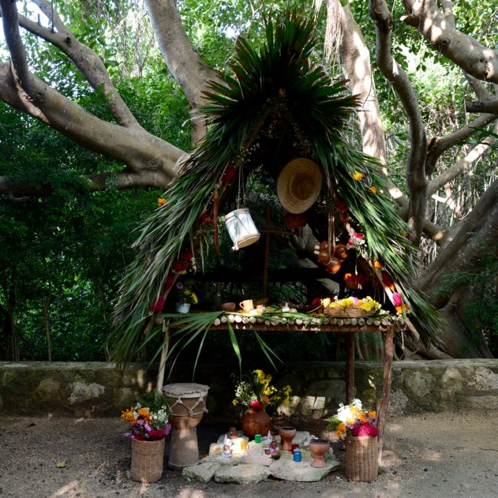 Travel with children kids mexico playa del carmen altar day of the dead