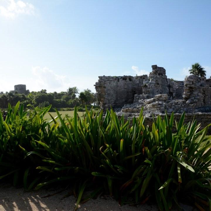 Travel with children kids mexico tulum mayan ruins