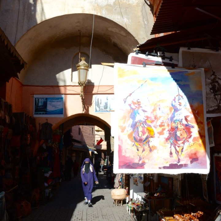 Travel with children kids Marrakesh morocco medina souk