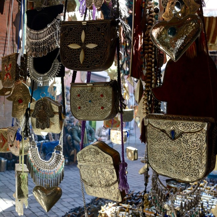 Travel with children kids Marrakesh morocco medina bags