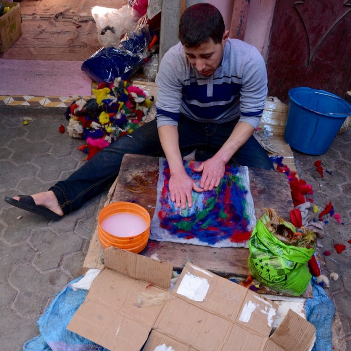 Travel with children kids Marrakesh morocco medina felt