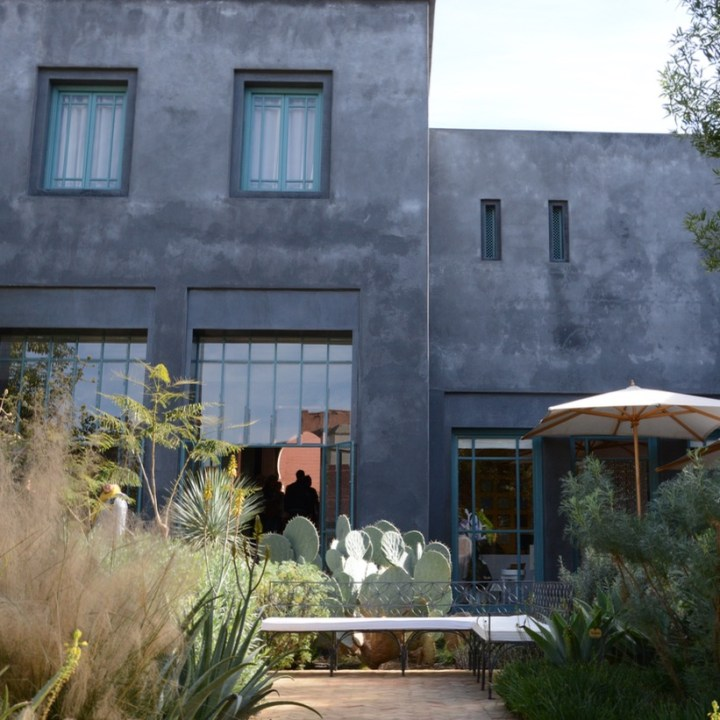 Travel with children kids Marrakesh morocco medina secret garden cafe