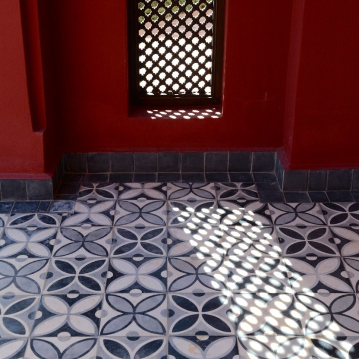 Travel with children kids Marrakesh morocco medina secret garden window
