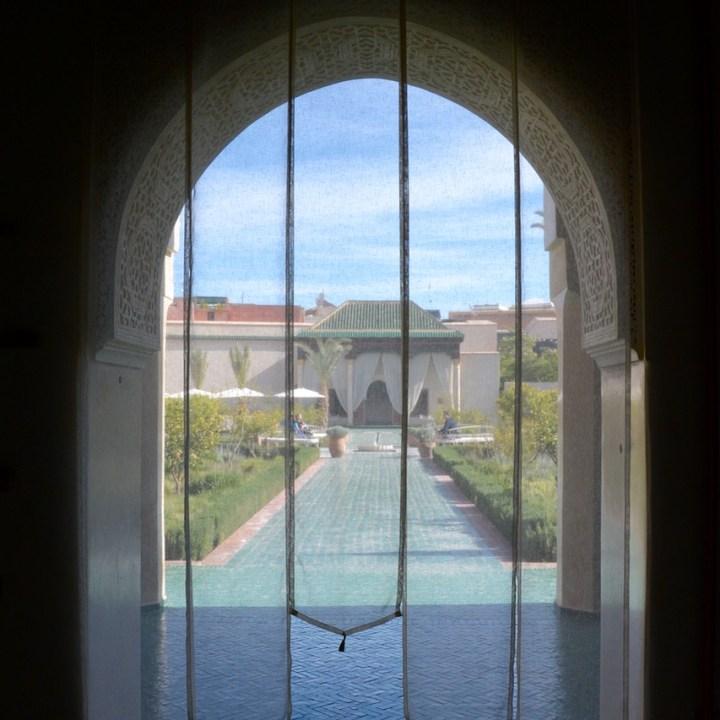 Travel with children kids Marrakesh morocco medina secret garden curtian