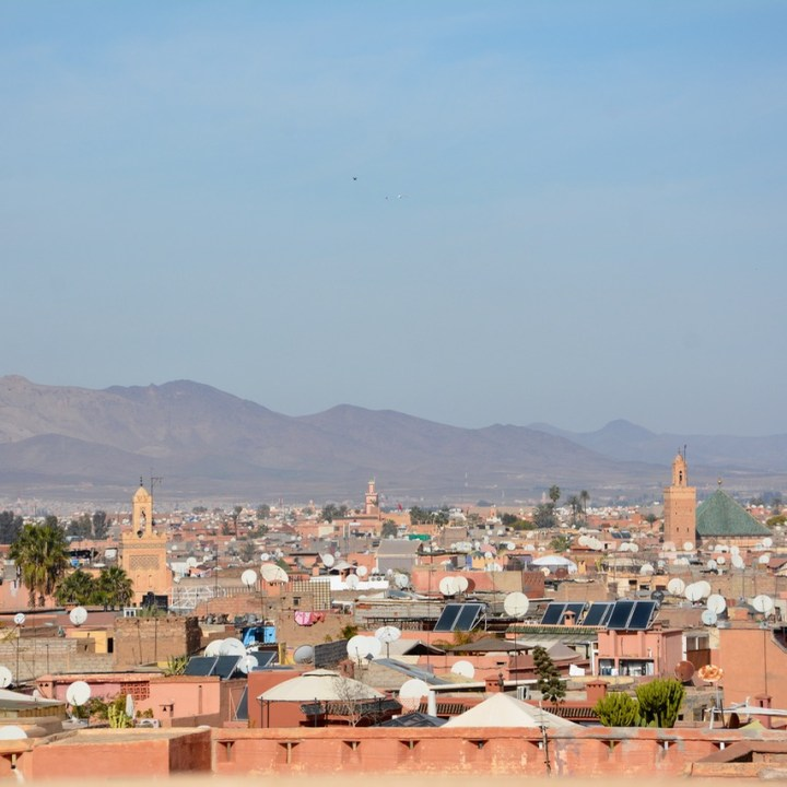 Travel with children kids Marrakesh morocco medina secret garden city view